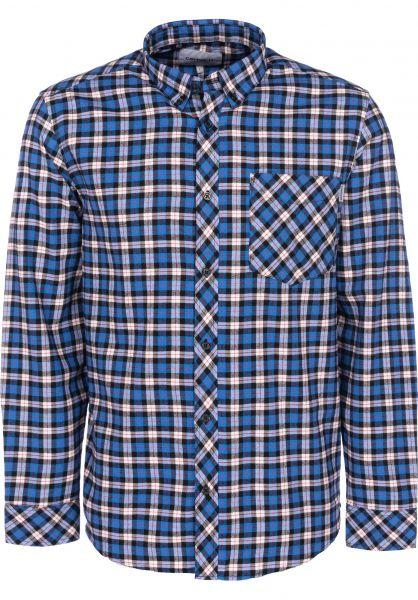 Carhartt WIP Hemden langarm Lanark Flannel lanarkcheck-regatta vorderansicht 0411886