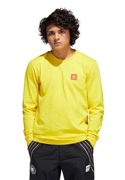 adidas-skateboarding Longsleeves x Evisen LS yellow vorderansicht 0383150