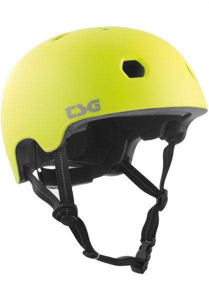 TSG Helme Meta Solid Color satin acid yellow Vorderansicht