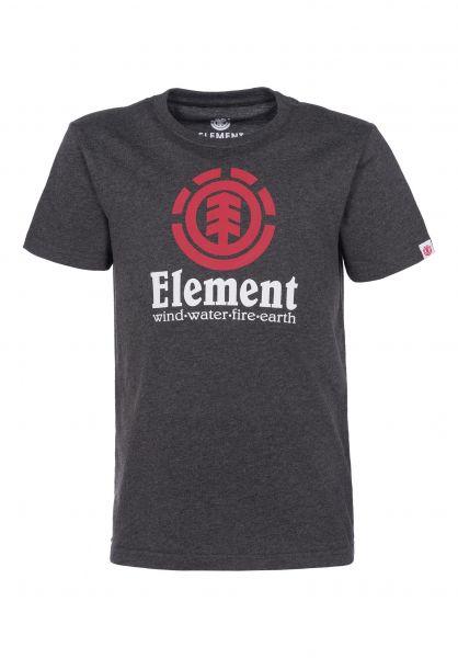 Element T-Shirts Vertical Kids charcoalheather-red Vorderansicht
