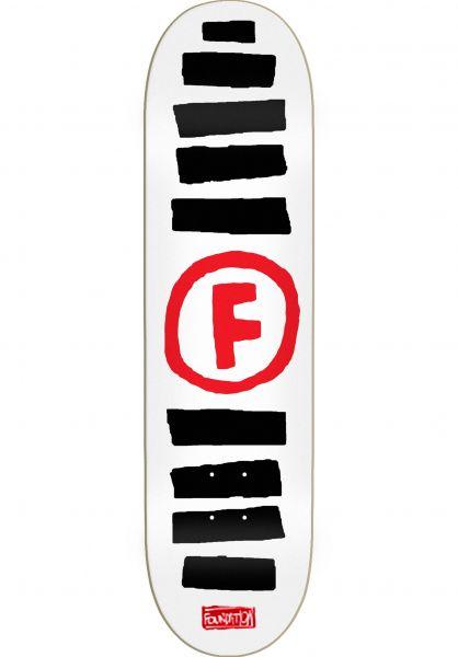 Foundation Skateboard Decks Doodle Stripe white Vorderansicht