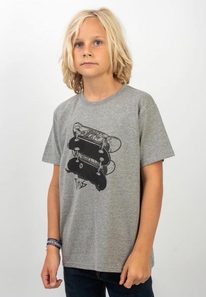 TITUS T-Shirts Kian Kids greymottled vorderansicht 0399254