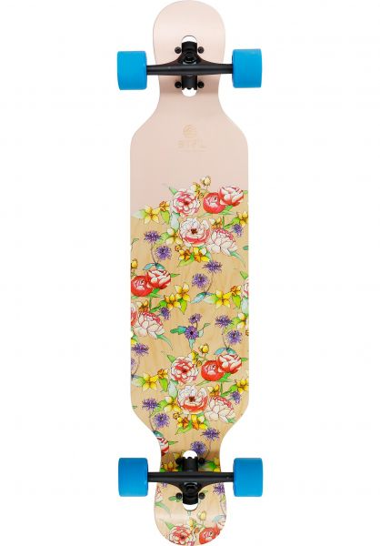 BTFL Longboards Longboards komplett Flora DT 39´´ multicolored vorderansicht 0194423
