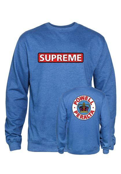 Powell-Peralta Sweatshirts und Pullover Supreme royal-heather vorderansicht 0422758