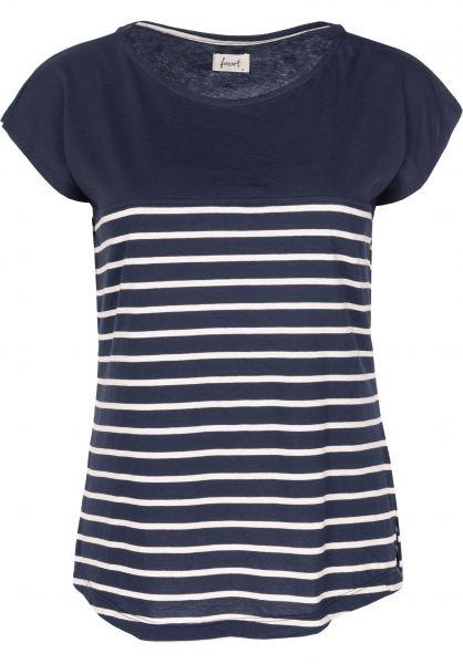 Forvert T-Shirts Newport navy-beige Vorderansicht
