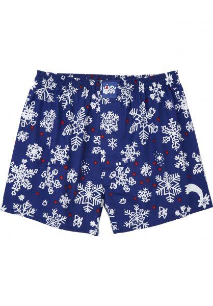 Lousy Livin Unterwäsche Snow Flakes nightblue vorderansicht 0213224