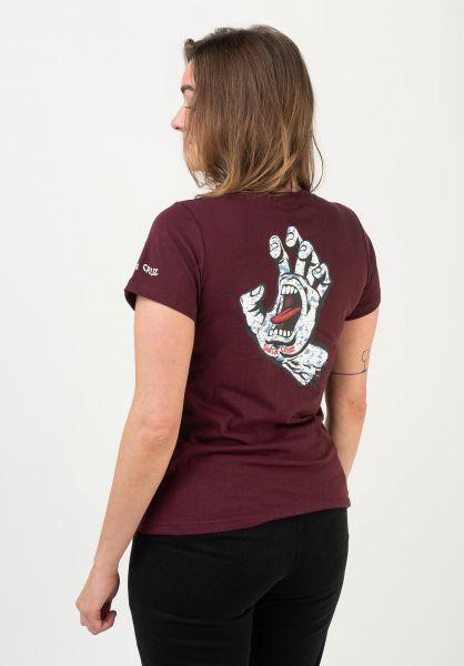 Santa-Cruz T-Shirts Speckled Hand port vorderansicht 0322265
