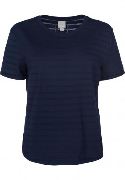 Bench T-Shirts Transparent Stripe maritimeblue Vorderansicht