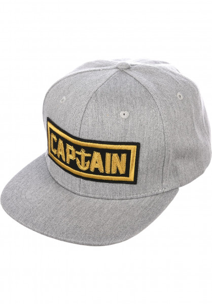 Captain Fin Caps Naval Captain 6 Panel heathergrey-gold Vorderansicht