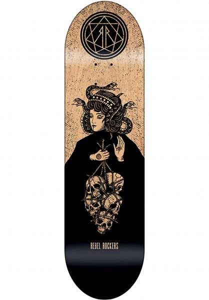 Rebel Rockers Skateboard Decks The Dusa black-natural Vorderansicht