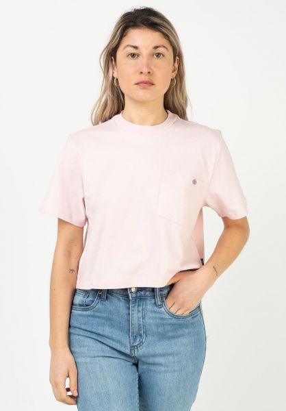 Dickies T-Shirts Porterdale Crop lightpink vorderansicht 0322865
