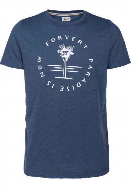 Forvert T-Shirts Populus bluemelange Vorderansicht