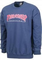 Thrasher-Sweatshirts-und-Pullover-Outlined-navy-Vorderansicht