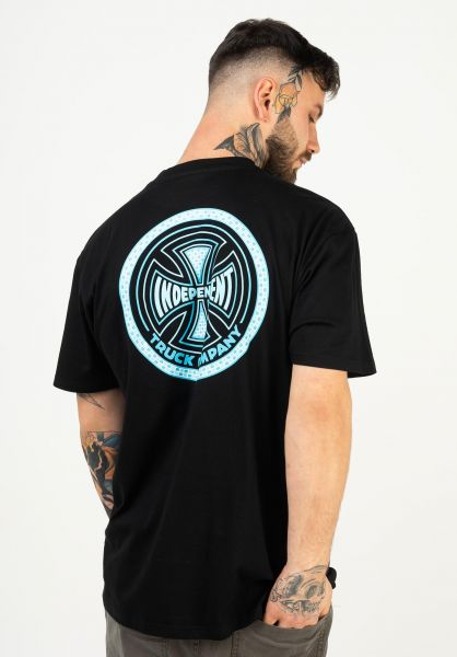 Independent T-Shirts Tiled black vorderansicht 0322580