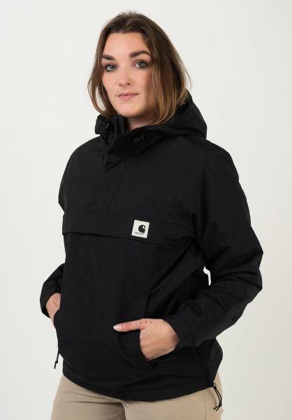 Carhartt WIP Winterjacken W´ Nimbus Pullover black vorderansicht 0503747