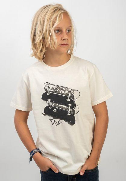 TITUS T-Shirts Kian Kids offwhite vorderansicht 0399254