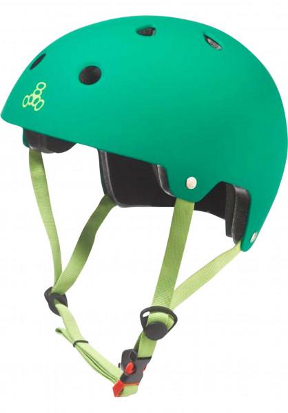 Triple Eight Helme Brainsaver rubber-kellygreen Vorderansicht