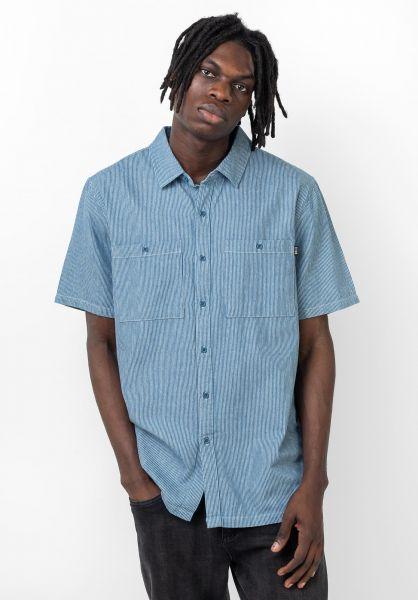 TITUS Hemden kurzarm Jaxon blue-striped vorderansicht 0400904