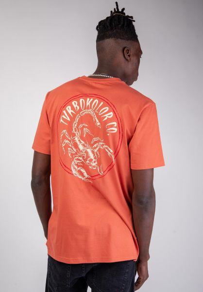 Turbokolor T-Shirts Scorpio orange vorderansicht 0320192