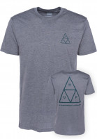 HUF T-Shirts Triple Triangle grey Vorderansicht