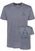HUF T-Shirts Triple Triangle grey Vorderansicht