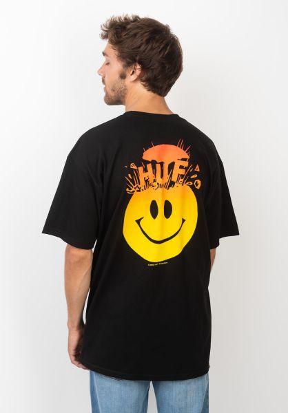 HUF T-Shirts Mind Blown black vorderansicht 0320520