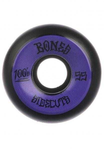 Bones Wheels Rollen 100´s OG #2 V5 100A black black-purple vorderansicht 0134680
