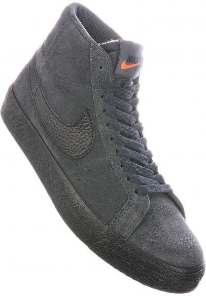 Nike SB Alle Schuhe Zoom Blazer Mid Orange Label darksmokegrey-black-white vorderansicht 0604861