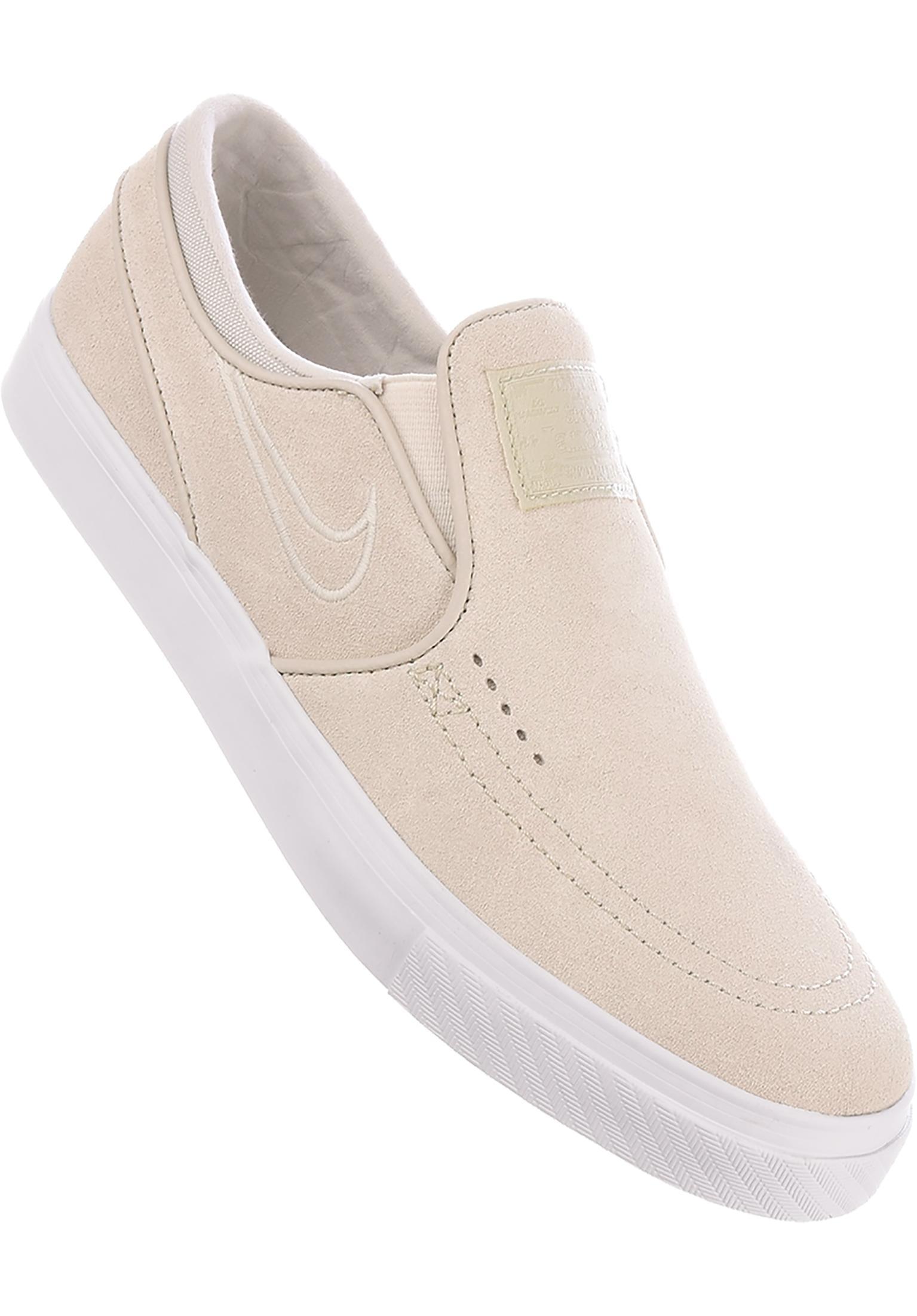 43b4b2a21f61a3 Zoom Stefan Janoski Slip On Nike SB All Shoes in white-lightbone for Men