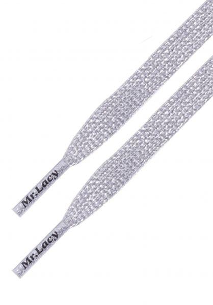 Mr. Lacy Schnürsenkel Flatties Special silver vorderansicht 0640037