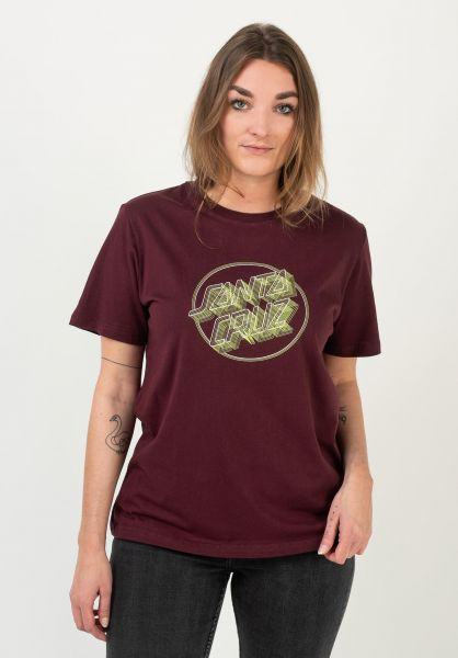 Santa-Cruz T-Shirts Linear Dot port vorderansicht 0322261