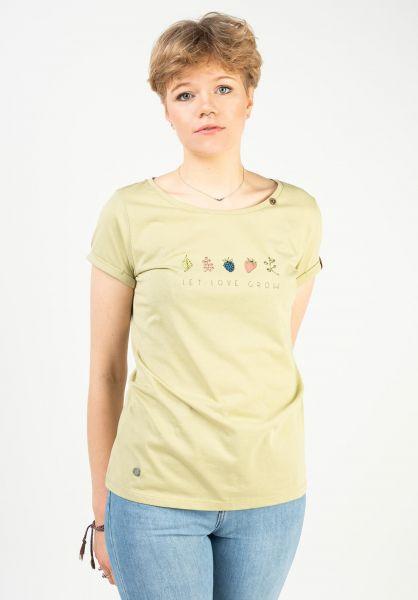 Ragwear T-Shirts Florah Print lightgreen 121 vorderansicht 0322818