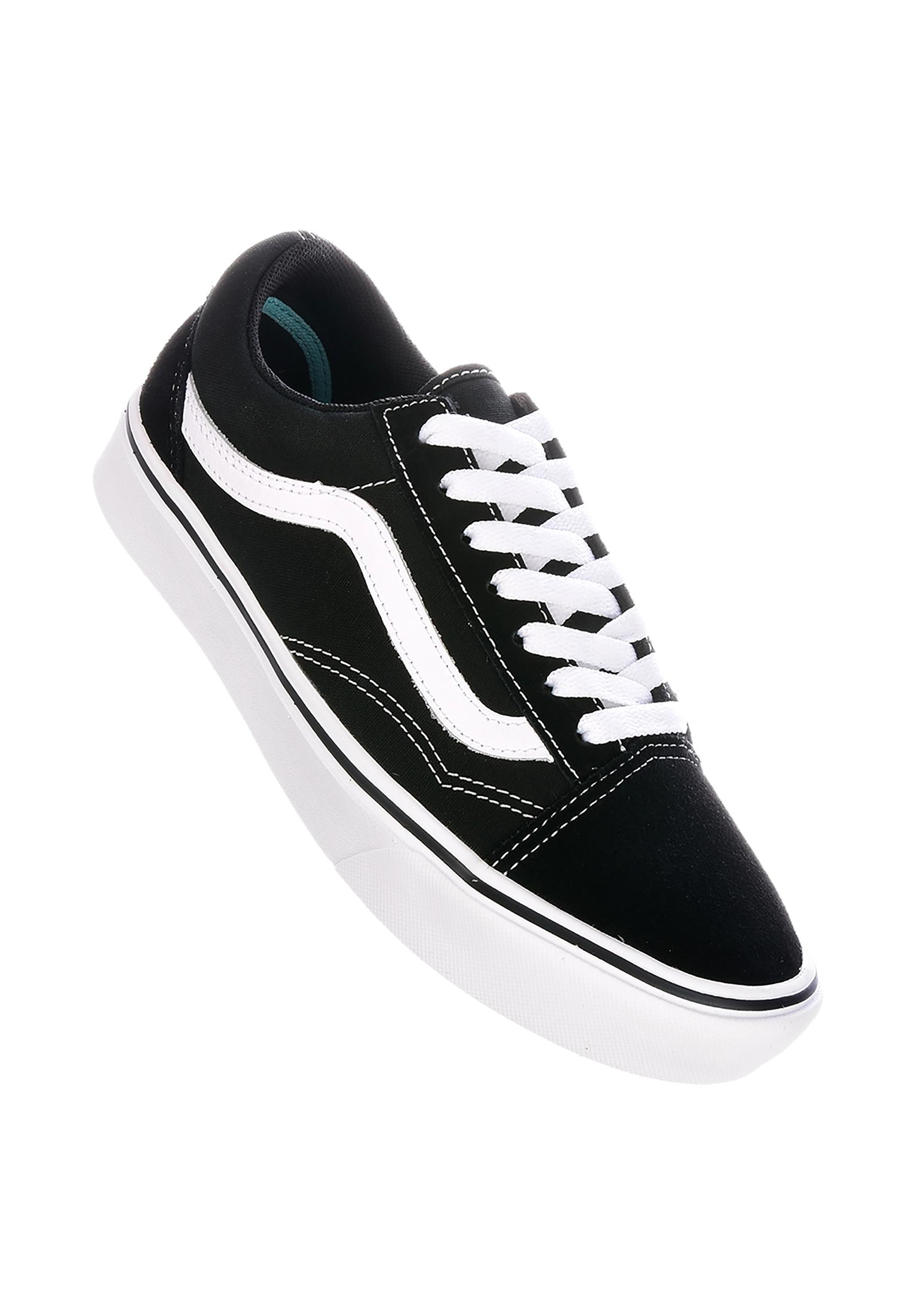 1ebc6569b3bf Old Skool Comfy Cush Vans All Shoes in black-truewhite for Women