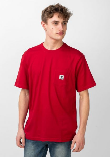 Element T-Shirts Basic Pocket Label chilipepper vorderansicht 0398847