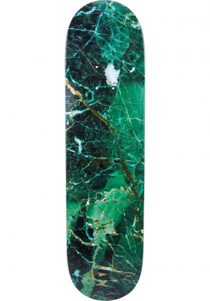 Primitive Skateboards Skateboard Decks Peacock Marble green Vorderansicht