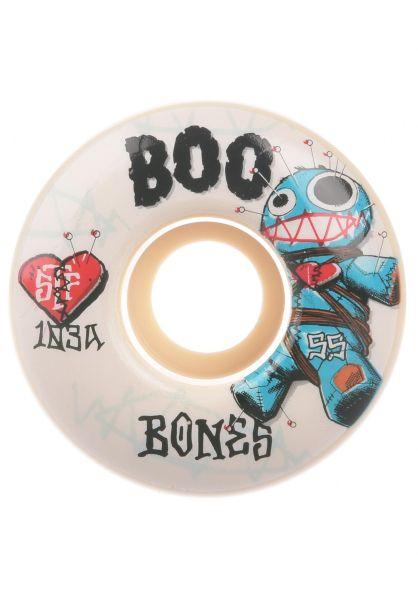 Bones Wheels Rollen STF Boo Johnson Voodoo 103A V4 Wide white vorderansicht 0135104