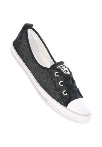 Converse Alle Schuhe Ballet Lace black-white-mouse Vorderansicht 954db5470