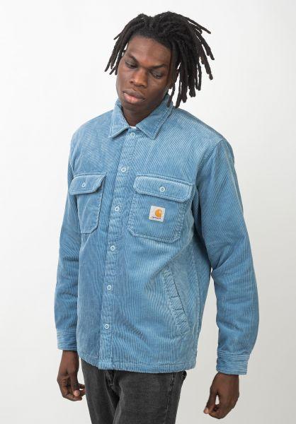 Carhartt WIP Übergangsjacken Whitsome Shirt Jac coldblue vorderansicht 0411945
