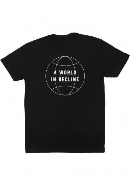 Habitat T-Shirts World in Decline black Vorderansicht