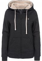 TITUS Zip-Hoodies Bruno Girls darkgreymottled Vorderansicht