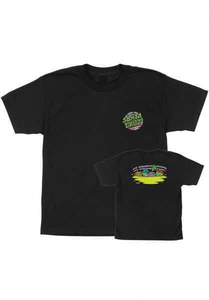 Santa-Cruz T-Shirts TMNT Ninja Turtles Youth black vorderansicht 0399652
