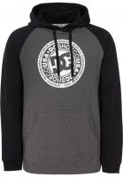 DC Shoes Hoodies Circle Star Raglan black-charcoalheather Vorderansicht