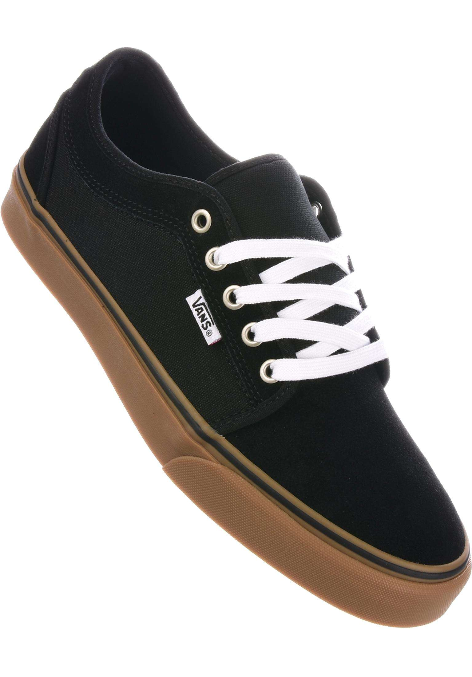 54a1e8c613f Chukka Low Pro Vans All Shoes in black-white-gum for Men