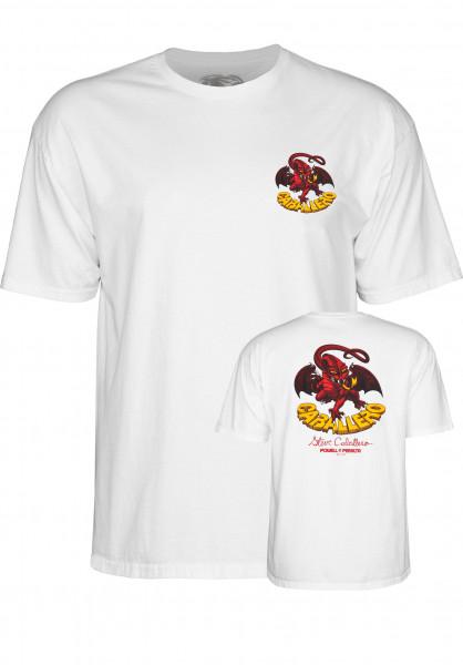 Powell-Peralta T-Shirts Cab-Dragon-II white Vorderansicht