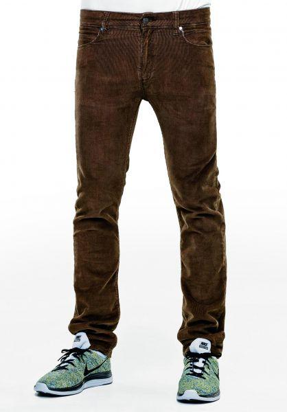 Reell Jeans Skin brown-corduroy Vorderansicht