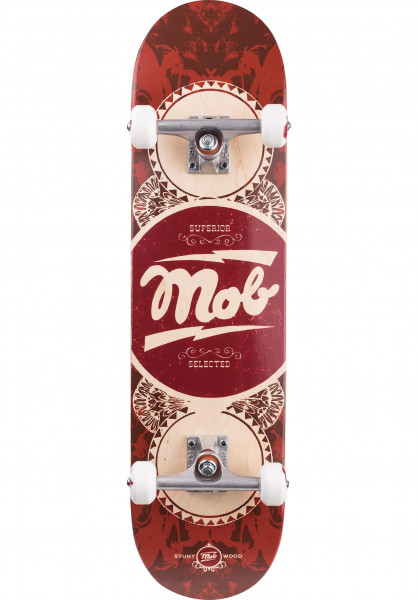 MOB-Skateboards Skateboard komplett Gold Label Full red Vorderansicht
