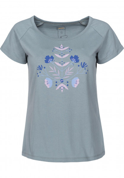 Rules T-Shirts Blume blue-grey Vorderansicht