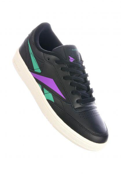 Reebok Alle Schuhe Club C 85 black-emerald-grapepunch vorderansicht 0612485