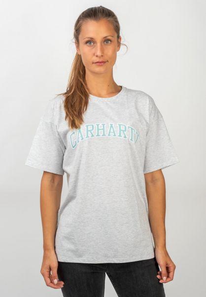 Carhartt WIP T-Shirts W´ S/S Princeton ashheather vorderansicht 0399986