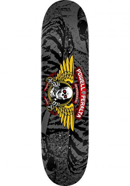 Powell-Peralta Skateboard Decks Winged Ripper Birch silver vorderansicht 0260294